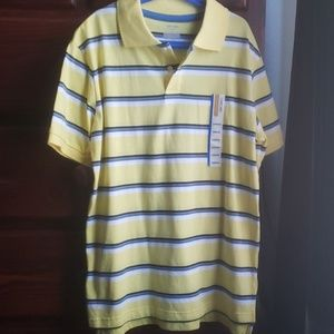 Yellow and blue polo shirt